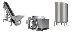 Custom Metalcraft custom sanitary process material handling equipment conveyors tanks lifts vessels