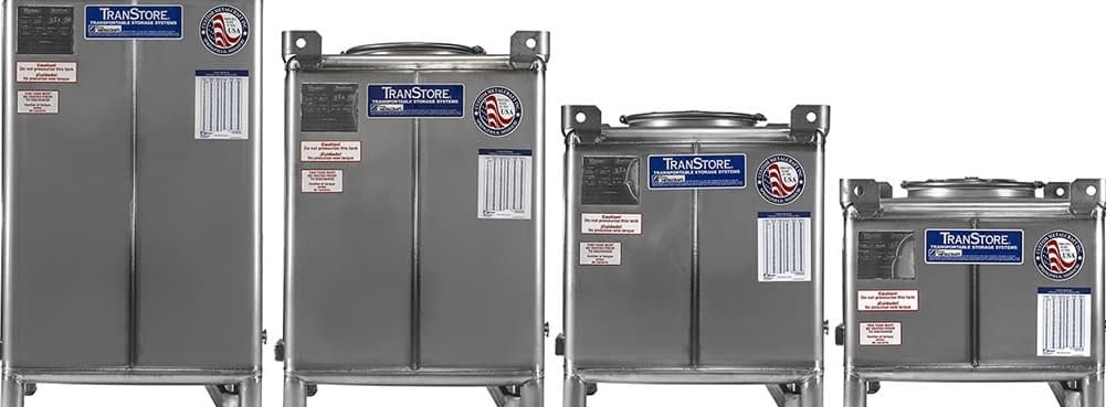 Transtore Stainless Steel IBC Tank LIneup