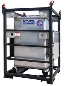 Offshore lifting frame rack for IBC tote tank