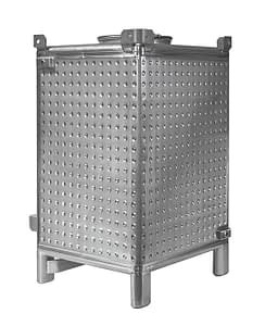 IBC tank with 4 sides dimple heat transfer