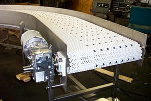 90 degree turn sanitary belt conveyor