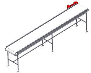 Custom Metalcraft flat horizontal belt conveyor