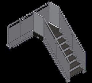 Custom sanitary platforms catwalks safety OSHA