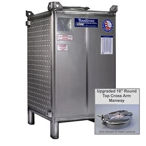 TranStore Storage & Fermentation Tank, Bronze Package 750 Gallon with Hinged Cross Arm Manway